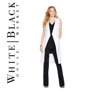 White House Black Market Sleeveless Trench Vest XL